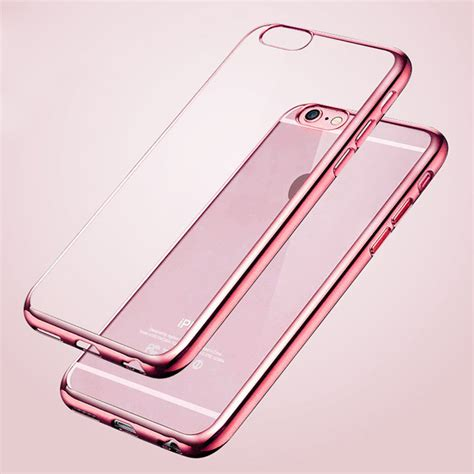 Baseus Shining Clear Soft Apple Iphone 5 5s Se Cover ultra thin slim gold plating clear for