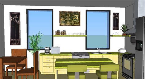 google sketchup kitchen design oreos design portfolio sketchup kitchen