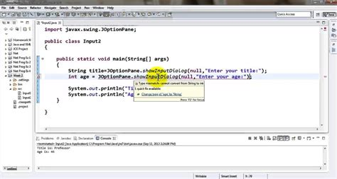 java tutorial keyboard input java tutorial accepting an int value using gui input