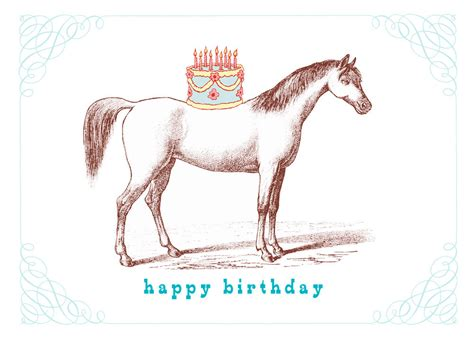 printable birthday cards horse happy birthday horse greeting card