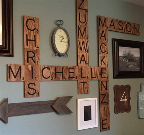 scrabble tile wall family wood scrabble wall crafty morning
