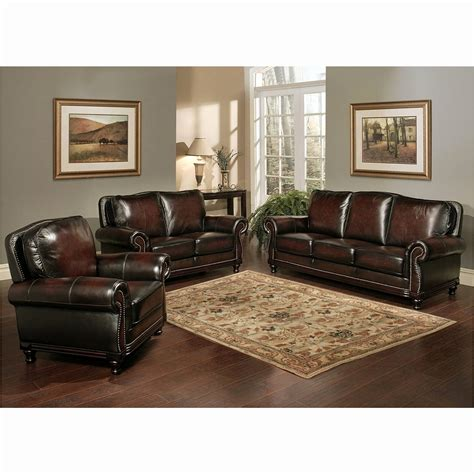 leather livingroom sets top grain leather living room set smileydot us