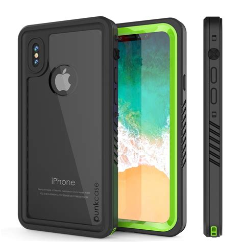 iphone x uk iphone x series cover w screen protector light green punkcase uk