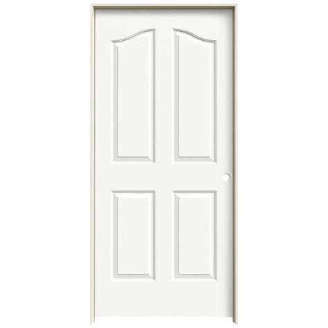 Hollow Interior Door Jeld Wen 36 In X 80 In Molded Textured 4 Panel Eyebrow Brilliant White Hollow Composite