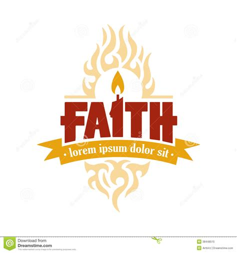 Faith Candle Vector Logo Medallion Royalty Free Stock