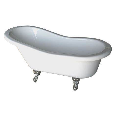 six foot bathtub barclay products 5 6 ft acrylic claw foot slipper tub in white with bisque feet