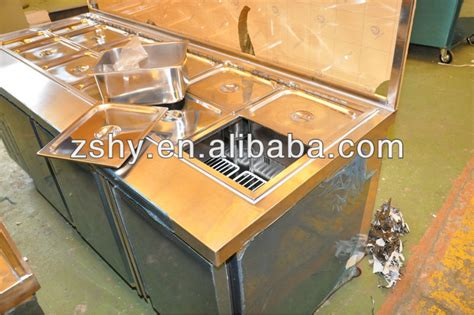 Refrigerated Bar Top stainless steel refrigerated counter top salad bar buy