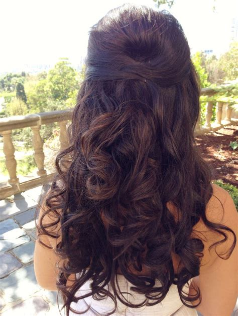 beautiful long half up wedding hairstyles