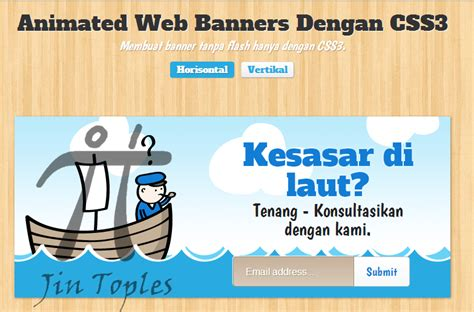membuat header html5 cara membuat banner animasi dengan css3 dan html5 jin