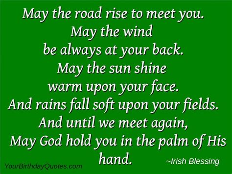 Birthday Blessing Wishes Quotes St Patrick Day Wishes Quotes Sayings Toast Irish Blessing