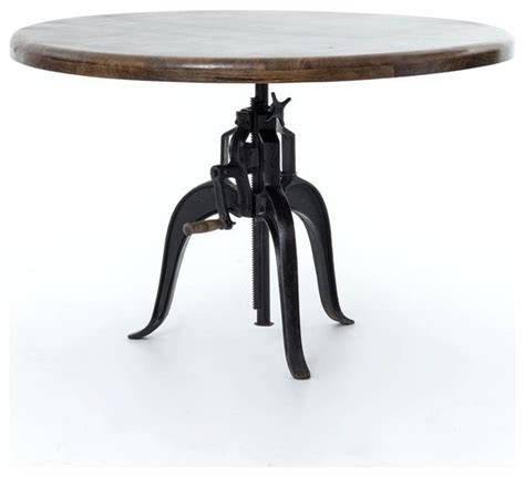adjustable dining table rockwell adjustable round dining table 48 quot industrial