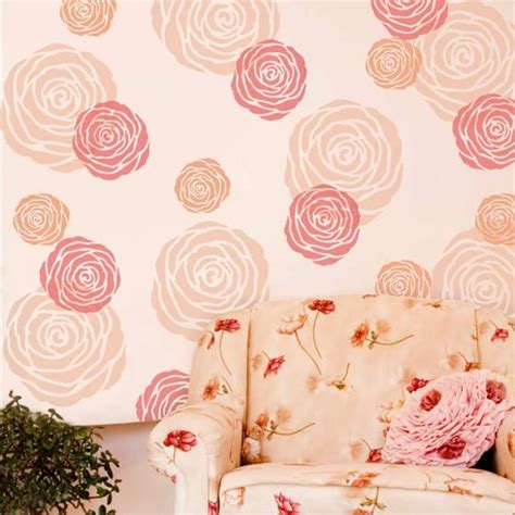 flower design for wall painting rose flower wall stencil floral stencil designs for diy