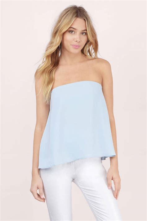 light blue strapless top light blue tank top strapless top blue top light