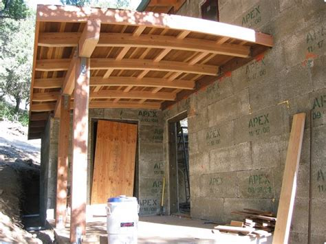 a green home day 66 completed porch roof framing 3 subs