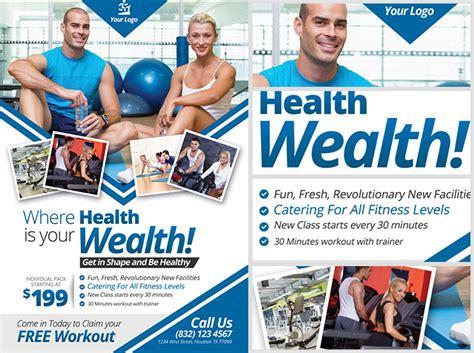 fitness flyer fitness flyer template flyerheroes