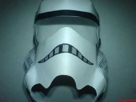 Stormtrooper Papercraft Helmet - stormtrooper helmet papercraft how to make do everything