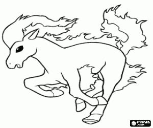 pokemon coloring pages rapidash pok 233 mon coloring pages printable games 2