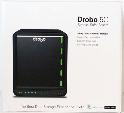 Drobo Storage Robot Is Self Aware by Drobo 5c Self Managing Usb C Storage Solution Review
