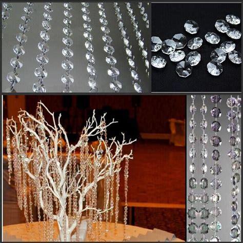 diy crystal curtain wholesale new wedding party decoration clear acrylic