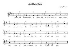 Auld lang syne music score sheet music with chords