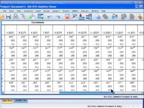 pattern matrix spss youtube streamlined correlation matrix spss youtube