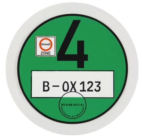 Umweltplakette Auto by Die Umweltplakette Feinstaubplakette