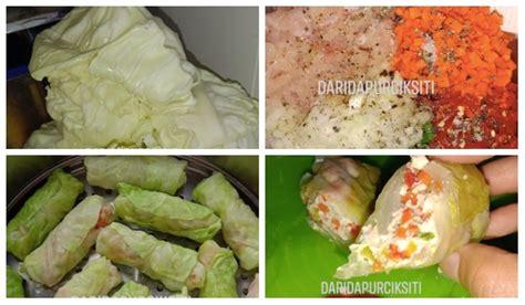 resepi kubis roll    tak suka makan sayur