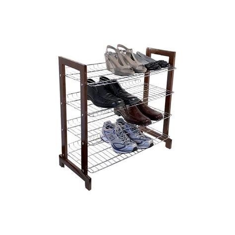 4 Tier Wire Shoe Rack by Storage Box