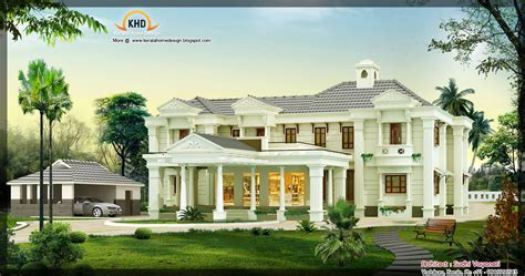 Luxury Home Plans With Pictures | 3850 sq ft luxury house design kerala home design and