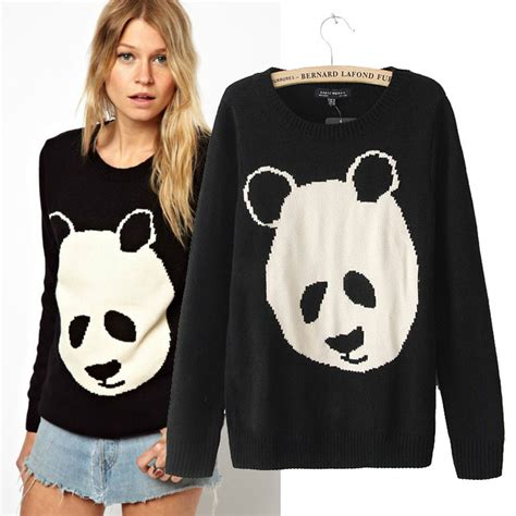 Sweater Panda To sweater with panda print on luulla