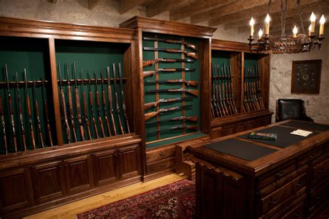 gun room handmade rifles shotguns gunroom je cauthen sons sporting arms collectibles
