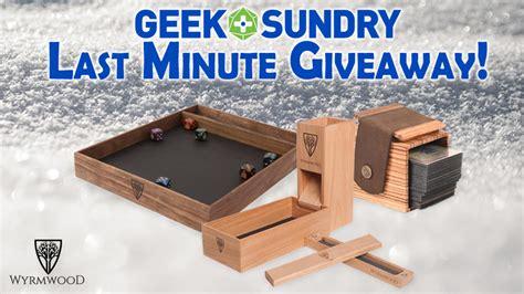 Geek Giveaway - geek sundry s last minute giveaway wyrmwood bundle geek and sundry