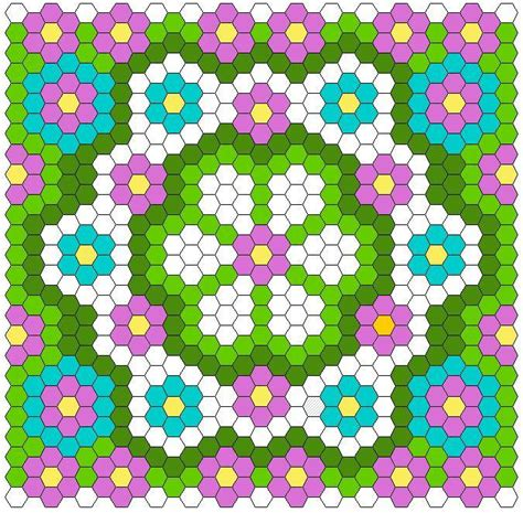 Hexagon Patchwork Patterns Free - hexagon quilt layout by twiddletails quilting pattern