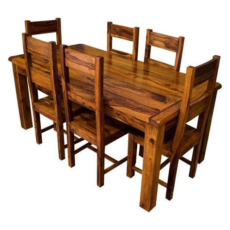 Ethnic India Madrid 6 Seater Sheesham Wood Dining Set With Table Buy Ethnic India 20 Inspirations Sheesham Wood Dining Chairs Dining Room Ideas