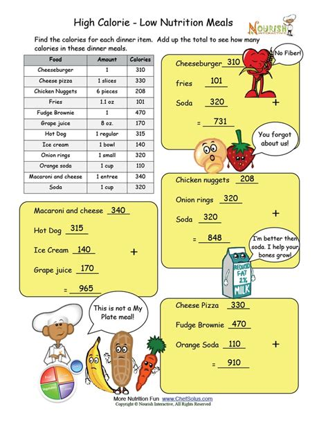 Nutrients Worksheets Activities by 30 Best Images About Nutrition Worksheets And On