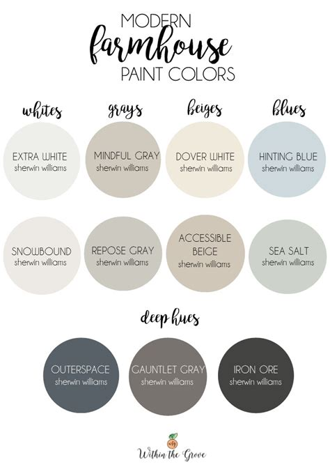 modern farmhouse colors modern farmhouse paint colors within the grove