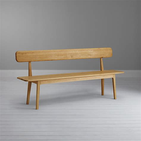 hudson dining bench with backrest qualita