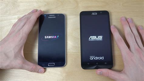 Samsung S6 Vs Asus Zenfone 2 Samsung Galaxy S6 Vs Asus Zenfone 2 Which Is Faster