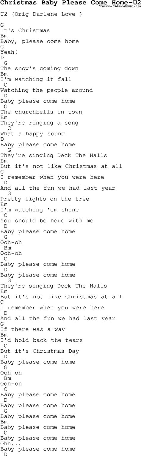 Please Come Home For Christmas Guitar Chords