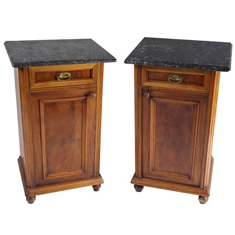 Antique Nightstands With Marble Top pair of antique marble top nightstands or end tables at 1stdibs
