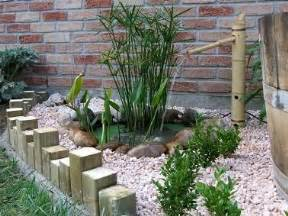 jardin zen avec d 233 co faite de bambou et
