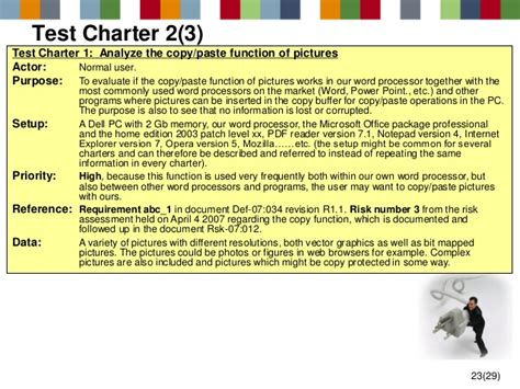 test charter template test charter exle images