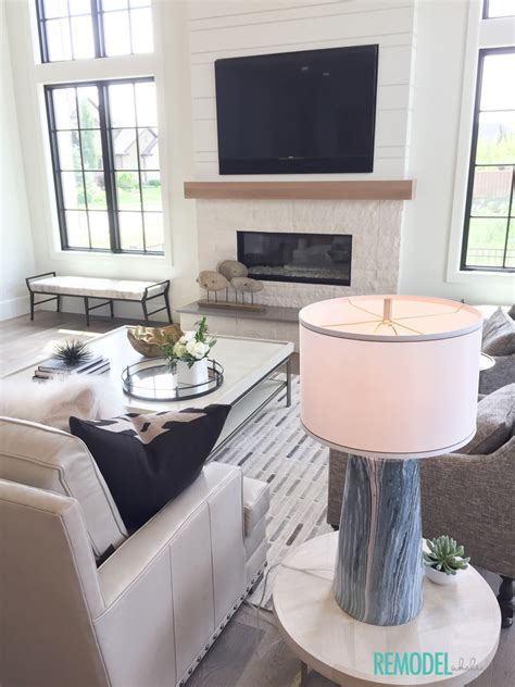farmhouse living rooms modern farmhouse living room remodelaholic get this look modern farmhouse living room