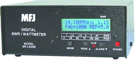 Swr Meter Digital mfj 826b digital swr wattmeter lce w freq counter mfj mfj 826b