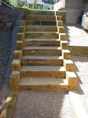 steps with landscape timbers wooden steps diy 8 best images about outdoor steps on pinterest landscape