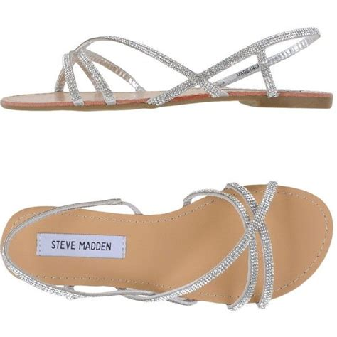 flat wedding sandals with rhinestones steve madden sandals 55 liked on polyvore featuring