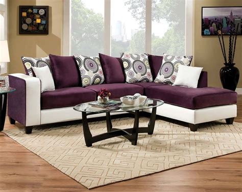 Purple Sectional by Implosion Purple 2 Sectional Sofa Living Room By