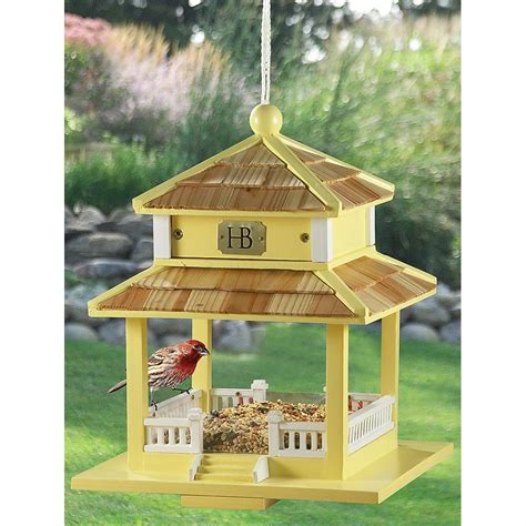 backyard bird gazebo feeder yellow 207183 bird houses
