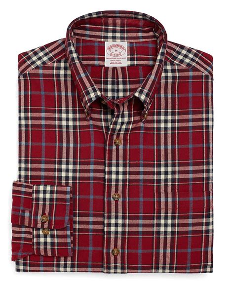 Broos Flanel 1 brothers regular fit plaid flannel sport shirt in for lyst