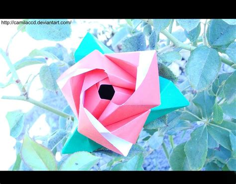 Origami Flower Cube - origami flower cube 2 by camilaccd on deviantart